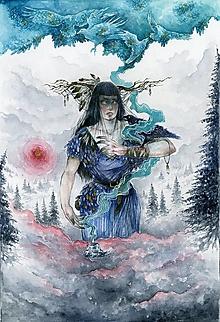 Obrazy - Šamanka Art Print - 12906553_