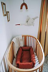"""Textil - Hniezdo pre bábätko """"Červené"""" - 12905467_"""