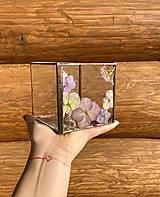 Svietidlá a sviečky - Svietnik so sušenými hortenziami - 12904714_