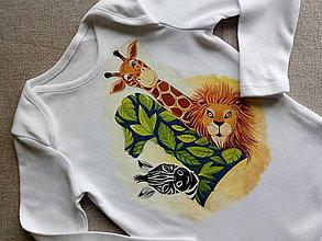 Detské oblečenie - Safari- body k prvým narodeninkám - 12908446_