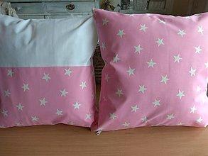 Úžitkový textil - Vankúše hviezdičky 2ks - 12911282_