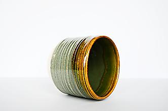 Nádoby - Zelený kvetináč - 12908376_