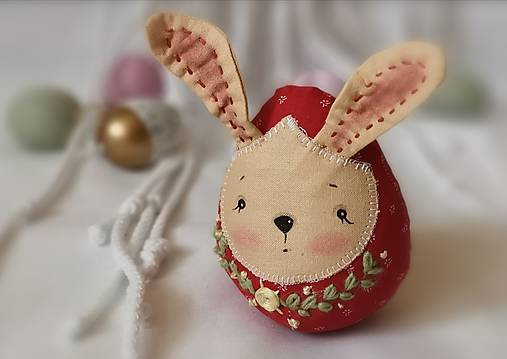 Dekorácie - Vajce čo má zajačie úmysly - 12908613_