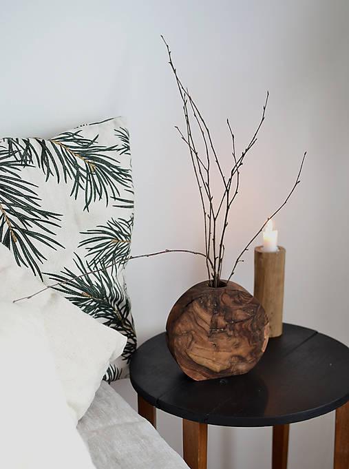 Dekorácie - drevená váza 1 - 12911845_