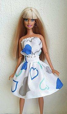 Hračky - Srdiečkový top+sukňa pre Barbie - 12909185_