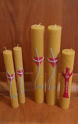 Svietidlá a sviečky - Hromničná sviečka z medzistienok - 12908172_