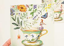 """- Pohľadnica """"Bylinkový čaj"""" - 12909963_"""