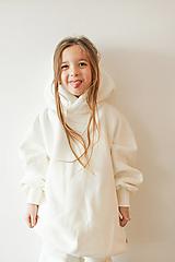 Detské oblečenie - Smotanová mikina oversized minimalist - 12908632_