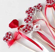 Dekorácie - Srdiečkové zápichy - dekorácia - 12910250_