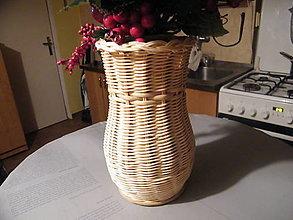 Nádoby - Váza z pedigu 4 - obal na sklenenú fľašu - 12911035_