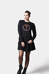 Mikiny - Mikina čierna s farebnou výšivkou - 12914582_