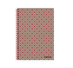 Papiernictvo - MADEBOOK špirálový zošit A5 - Láska - 12913323_