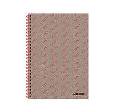 Papiernictvo - MADEBOOK špirálový zošit A5 - Love - 12913376_