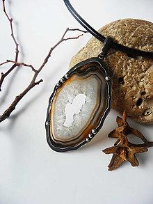 """Náhrdelníky - Cínový šperk """"V zajatí ľadu"""" - 12912427_"""