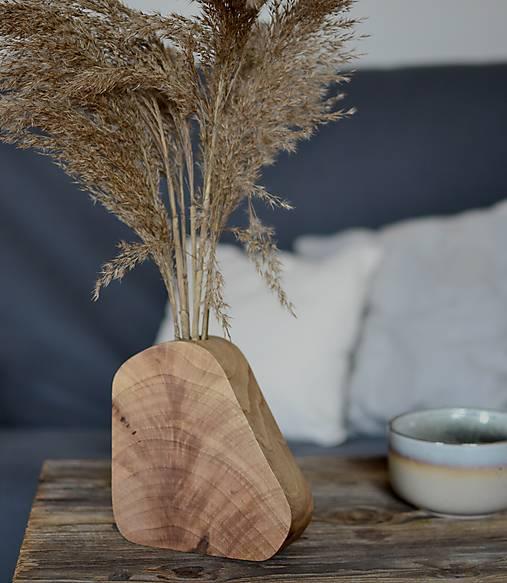 Dekorácie - Drevená váza 2 - 12916268_
