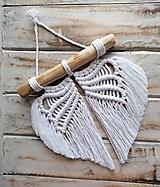 Dekorácie - Macrame krídla na drievku - 12915200_