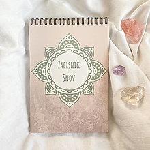 """Papiernictvo - Poznámkový blok """"Zápisník Snov - ružová verzia"""" - 12915149_"""