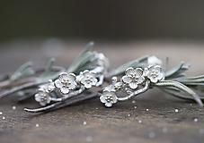Náušnice - Kvetinkovej vetvičky do uší - 12916143_