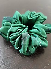 """Ozdoby do vlasov - Set 2 hodvábnych gumičiek do vlasov-""""Emerald dream"""" - 12912486_"""