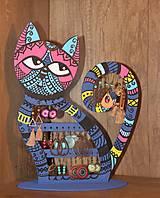 Dekorácie - Drevená mačka na náušnice  - 12912525_