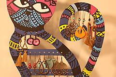 Dekorácie - Drevená mačka na náušnice  - 12912530_