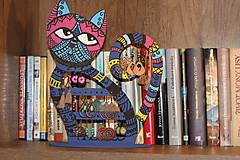 Dekorácie - Drevená mačka na náušnice  - 12912539_