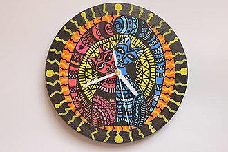 Hodiny - Valentínske bukové nástenné hodiny pre zaľúbených - 12912610_