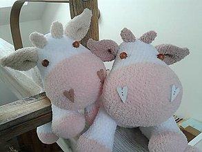 Hračky - kravička - 12912766_