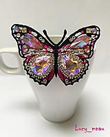 Odznaky/Brošne - Brošnička motýľ- ružový :) - 12916186_
