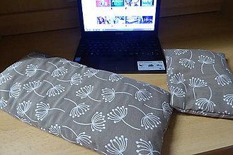 Úžitkový textil - Hnedé špaldové podložky k počítaču - 12914030_