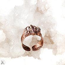 Prstene - medený prsteň s ametystom - 12913935_