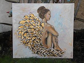 Obrazy - Pod ochranou anjelských krídel - 12914957_