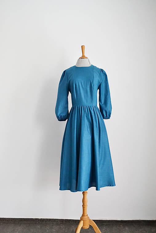 Bavlnené šaty s riasenou sukňou