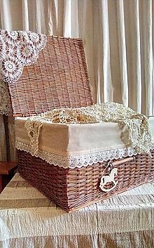 Košíky - Truhlica medená so šedou patinou - 12916060_