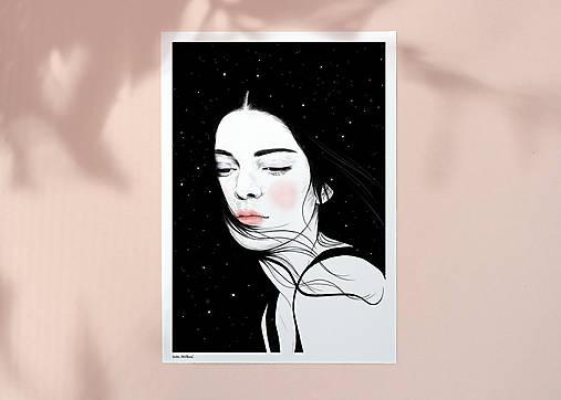 Hvězdy - umělecký tisk, A4