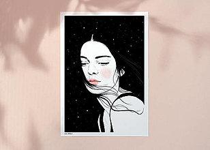 Grafika - Hvězdy - umělecký tisk, A4 - 12917428_