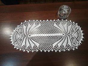 Úžitkový textil - Veľká oválna háčkovaná dečka - 12919075_