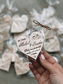 Darčeky pre svadobčanov - Samostatné ZABALENIE magnetky - 12920806_