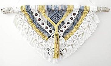 Dekorácie - Makramé dekorácia,, Harmónia farieb,, - 12918132_