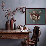 """Obrazy - Obraz """" Kytica maky a margarétky """" - maľované na ľane - 12918031_"""