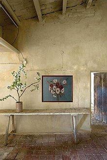 """Obrazy - Obraz """" Kytica maky a margarétky """" - maľované na ľane - 12918034_"""