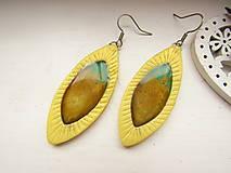 Náušnice - Náušnice obraz v žltej slze - 12921054_