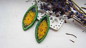 Náušnice - Obraz v zelenej slze - 12921063_
