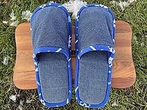 Obuv - Riflové papuče v modrej - 12916715_
