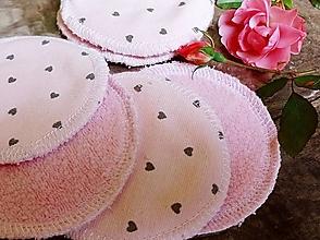 Úžitkový textil - Srdiečka tamponiky 10 ks Baranček - 12916713_
