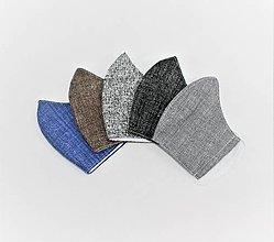 Rúška - Pánske tvarované rúška na tvár - decentné farby - 12920322_