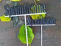 """Dekorácie - Zapich """"Spominame"""" (cierno-biely) - 12916605_"""