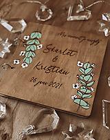 Svadobná kniha hostí, drevený fotoalbum - Eukalyptus