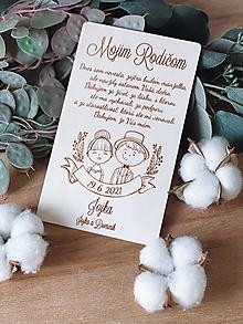 Darčeky pre svadobčanov - Poďakovanie rodičom 63 párik - 12923669_