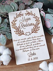 Darčeky pre svadobčanov - Poďakovanie rodičom 64 venček - 12924966_